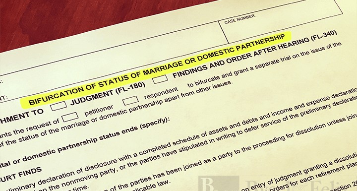 Bifurcate Or Not P C Of Bifurcation Of Marital Status Felix